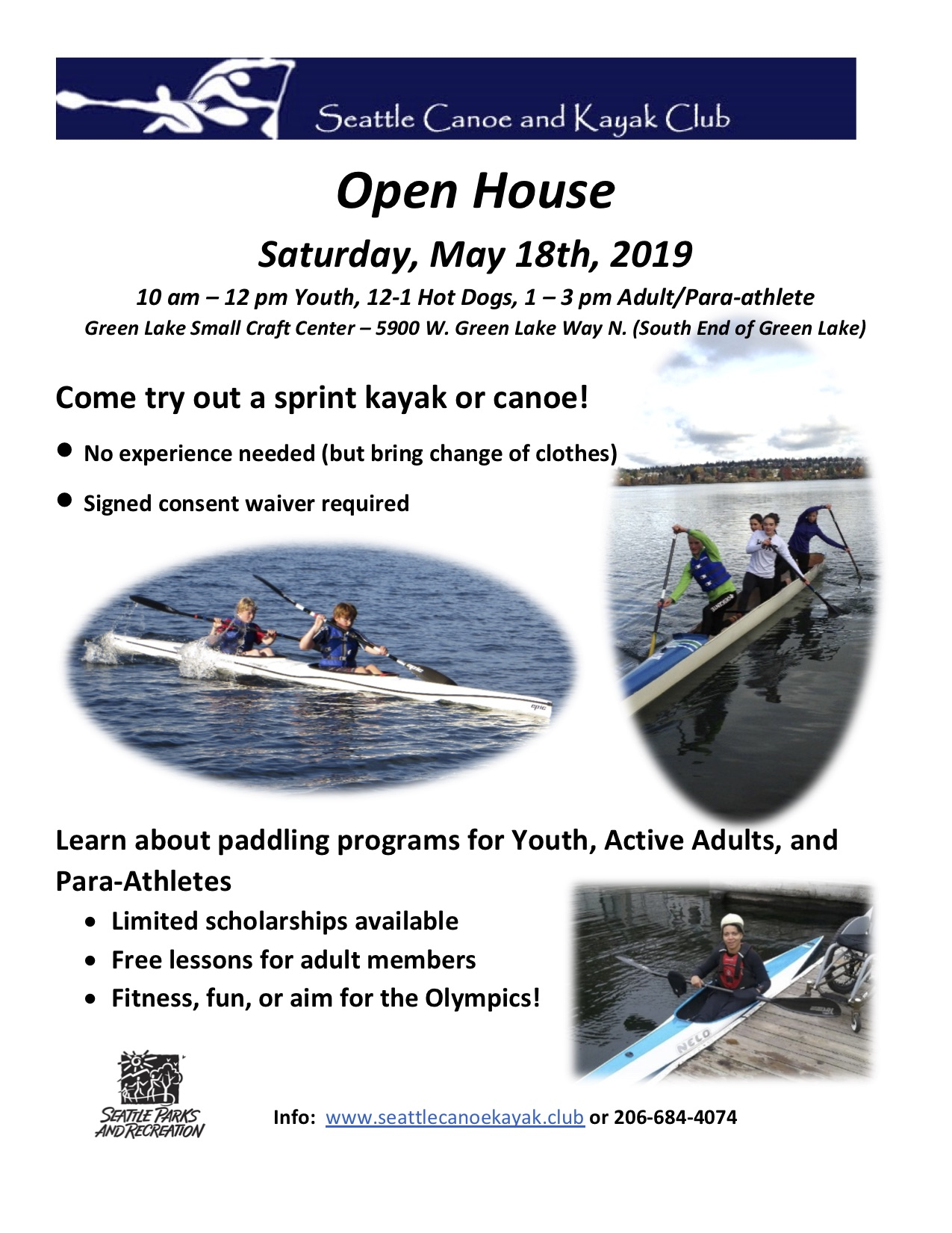 ◊ SCKC Open House ◊ Seattle Canoe and Kayak Club